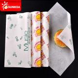 Изготовленный на заказ напечатанная логосом бумага бургера сандвича еды упаковывая