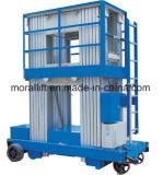 Trabajos aéreos de aluminio del mástil de elevación de la plataforma de trabajo móvil