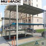 Pozo de cuatro postes de construcción de aparcamientos