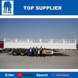 Titan-Fahrzeug der Zaun-Typ Flachbettsattelschlepper-Zaun-Ladung-LKW