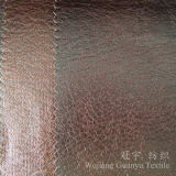 Cuero Suede 100% poliéster imitación de bronce de hilo de tela para muebles