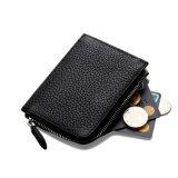 Стильный дизайн наилучшее качество мини-Size черными кожаными тонкий медали Wallet с слоты для карт памяти