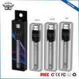 290mAh Batterie Twist Vape Pen 9.6mm Match 10,5 mm d'atomiseur Vape stylo de la batterie de préchauffage