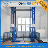 Ce van het Platform van de Lift van de Lift van de Lading van het Pakhuis van het Spoor van de gids Hydraulisch