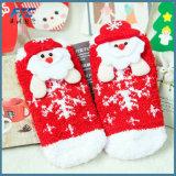 Chaussettes de coton de dessin animé de Noël avec les boîtes-cadeau exquises