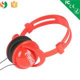 Promotioanl Gift Headphone를 위한 Coco Cola Logo를 가진 헤드폰