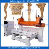 Máquina de cinzeladura giratória de madeira do router do CNC da mobília da cadeira do sofá da escada do corrimão do Baluster