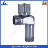 Vanne à coude angulaire en laiton sanitaire à plombage forgée (YD-5015)
