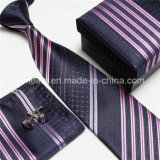 Cravate de bonne qualité et set de mouchoirs et de manchette pour hommes (WH17)