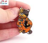 주문을 받아서 만들어진 고양이 아연 합금 접어젖힌 옷깃 Pin