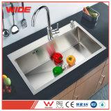 Grande cuisine en acier inoxydable 304 puits de lavage