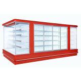 Geöffneter Gesichts-Luft-Vorhang-Bildschirmanzeige-Kühlvorrichtung-Kühlraum-Schaukasten