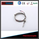 Type fixe du thermocouple K de ressort avec le fil de thermocouple