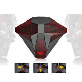 Transformers USB Rechargeable Cycling Smart Bike Rear Luz de controle remoto sem fio com alto-falante LED Turn Signal Tail Light