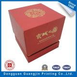 Boîte de cadeau faite sur commande avec le tissu à l'intérieur