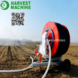 Irrigazione di viaggio della bobina del tubo flessibile della turbina dell'acqua dell'azienda agricola di agricoltura con lo spruzzatore