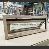 Alumínio revestido de madeira de carvalho vermelho na janela Casement