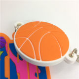 Porte-clés en silicone multicolore en PVC 3D haute qualité