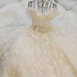 3D цветет мантии шарика шнурка Bridal отбортовывая платья венчания Z9014