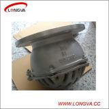 Válvula de pé de bomba de água flangeada em aço inoxidável Pn16