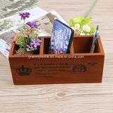 Vintage fleur en bois rustique Planter Box avec tableau de surveillance pour le stockage
