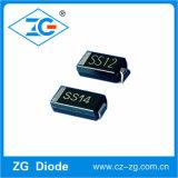 De oppervlakte zet de Gelijkrichters 1A 20V-100V Ss12-Ss110 van de Barrière Schottky op