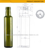 Bouteilles en verre de vente chaudes pour l'huile d'olive en stock (1052)