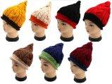 Зимы картины конуса Knit конструкции способа Beanie шлема Handmade теплый