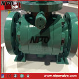 API 6D en acier au carbone Flanged Tourillon Ball Valve