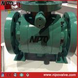 API 6D con bridas de acero al carbono de la válvula de bola de muñón