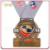 Souvenir Cadeau Custom Marathon Running Or Sport Award Médaille Métal