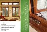 Finestra di alluminio di legno di stile americano per il cliente della California S.U.A.