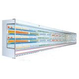 Vertical Ouverture commerciale du refroidisseur d'affichage vitrine réfrigérée Multideck supermarché