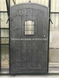 72 '' X 96 '' forjaram a porta dobro do ferro dianteiro com vidro duplo da placa