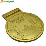 금 도금을%s 가진 도매 금속 메달