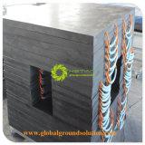 Tapete de Apoio do pé da grua/ UHMWPE ou HDPE Grua placas com retrancas/ Hoss placas