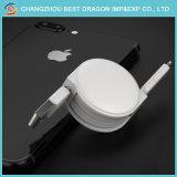 Weißer einziehbarer schneller aufladendaten-Synchronisierung Mikro-USB-Typ c-Kabel für iPhone und Android