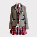 Uniforme scolastico del cappotto della camicia di vestito dalle ragazze dell'OEM di alta qualità