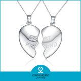 925 La imitación de plata Collar de cristal con el precio de fábrica (N-0260)