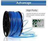 Lueur de filament de l'imprimante 3D de PLA 3mm 1.75mm dans le filament bleu-foncé