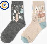 Calzini personalizzati di modo di Elastane del poliestere del cotone delle donne