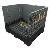800L amplo compartimento de paletes de plástico dobrável para armazenamento da indústria