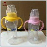 Bester Plastik BPA gibt Baby-führende Flasche mit Griff frei