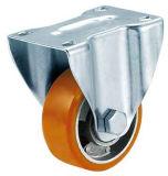 3, 4 Zoll-mittlere Aufgabe PU auf Aluminiumkern-steifer Fußrolle