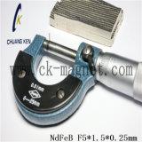 Ck 253 NdFeB 자석 급료 F5*1.5*0.25mm