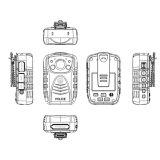 Gesetzdurchführung-Schreiber, Kamera der Polizei-4000mAh, Nacht-Anblick Kameragehäuse-Radioapparat-Kamera