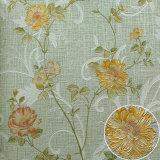 PVC imperméable à l'eau Flower Wallpaper avec Six Different Colors