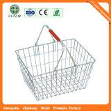 Panier de supermarchés en plastique de haute qualité de la poignée (JS-SBN06)
