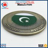아연 합금은 주물 금속 오래된 파키스탄 육군 동전을 정지한다
