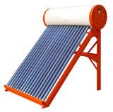 calentador de agua solar de tubos de vacío en la azotea con tubo de vacío